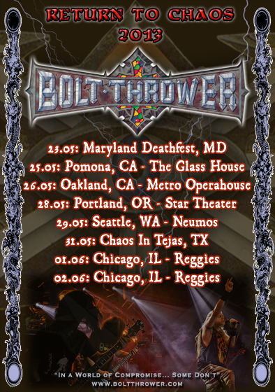 Bolt Thrower USA Tour
